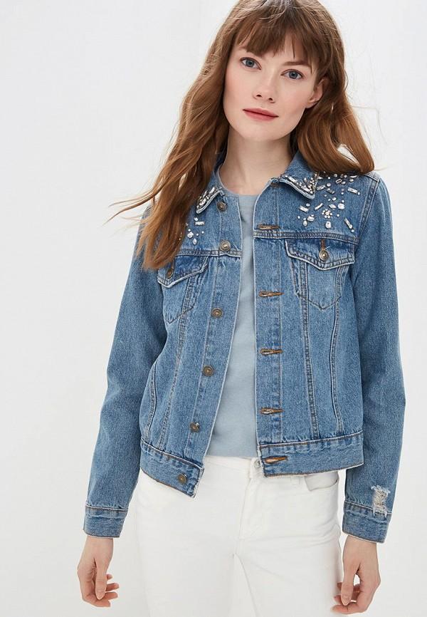 женская джинсовые куртка modis, голубая