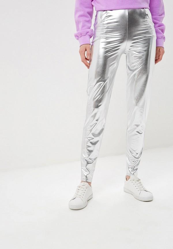 женские брюки modis, серебряные