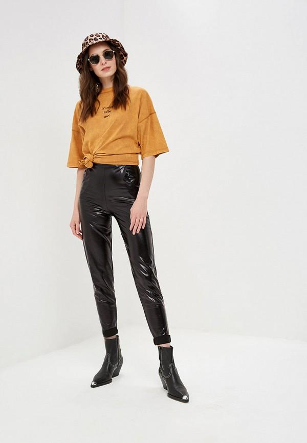 Фото 2 - женские брюки Modis черного цвета