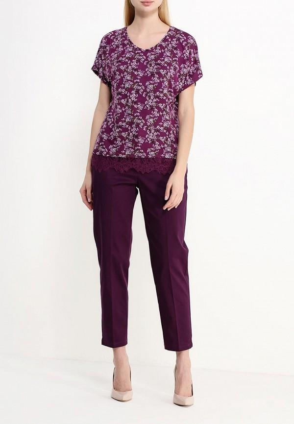 Фото 2 - женскую футболку Modis фиолетового цвета