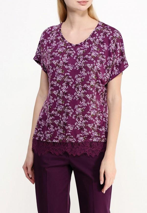 Фото 3 - женскую футболку Modis фиолетового цвета