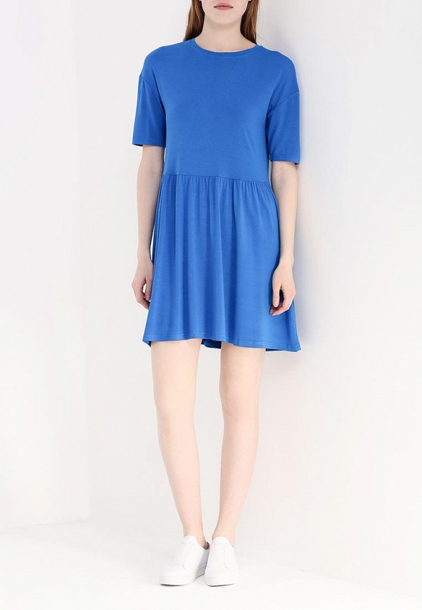 Фото 2 - женское платье Modis голубого цвета