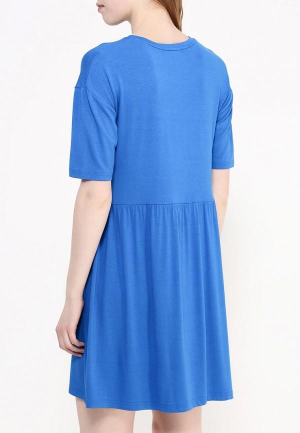 Фото 4 - женское платье Modis голубого цвета