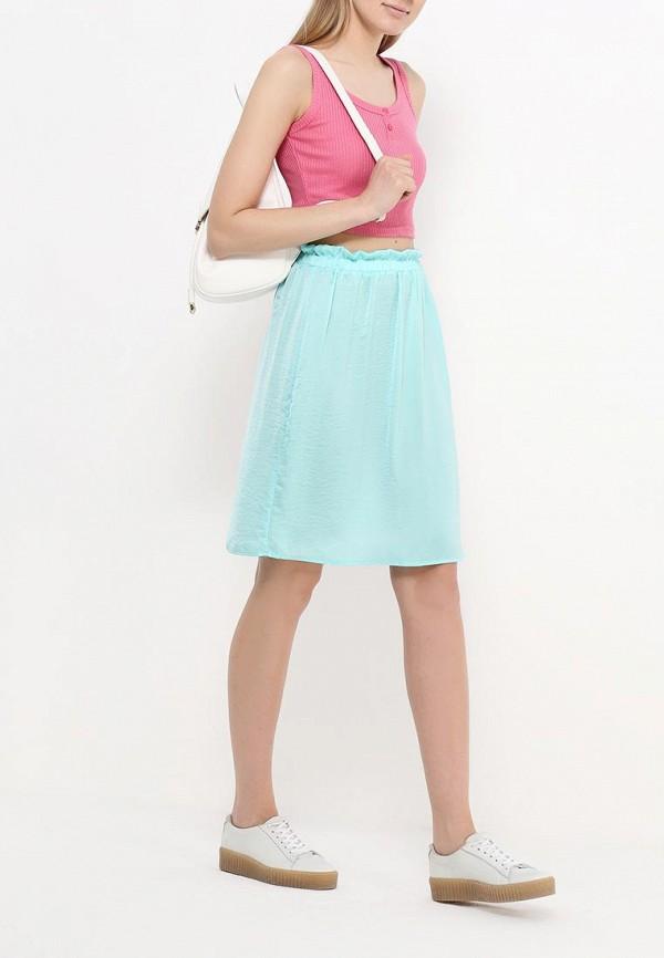 Фото 2 - женскую юбку Modis бирюзового цвета