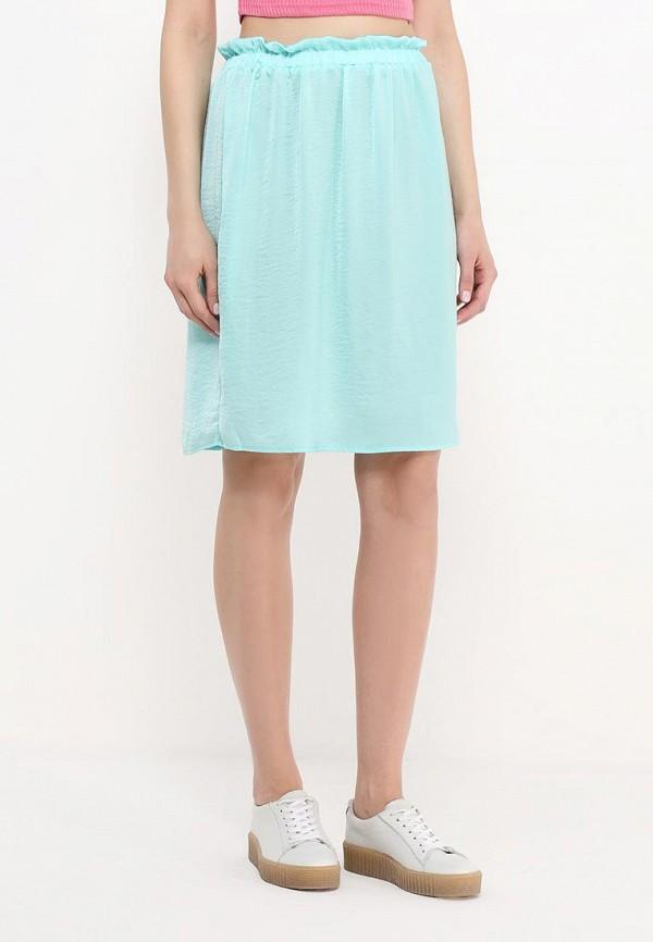 Фото 3 - женскую юбку Modis бирюзового цвета