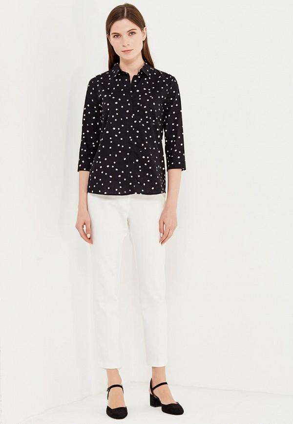 Фото 2 - женскую рубашку Modis черного цвета