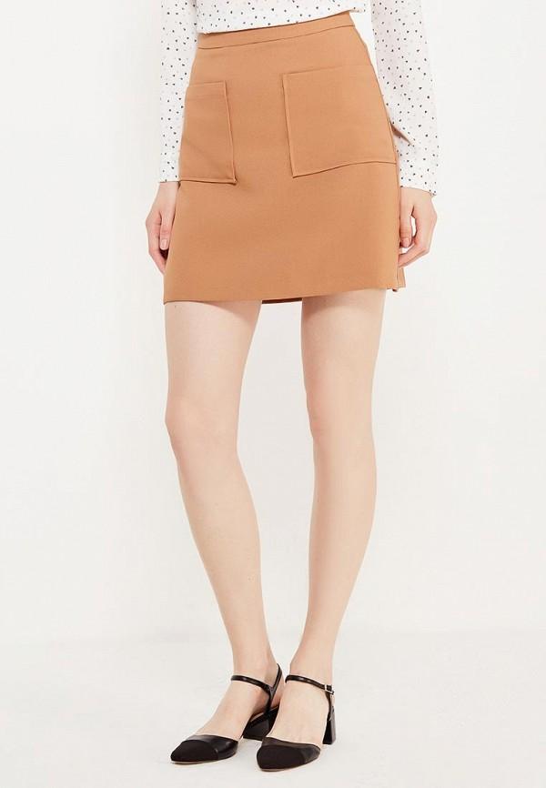 женская прямые юбка modis, бежевая