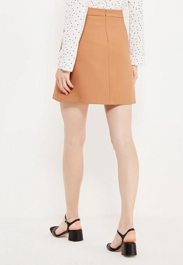 Фото 3 - женскую юбку Modis бежевого цвета