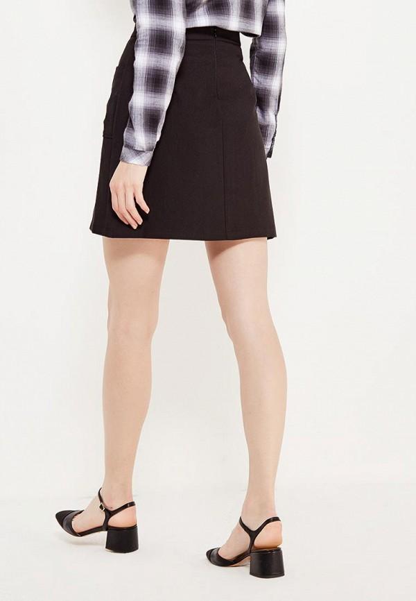 Фото 3 - женскую юбку Modis черного цвета