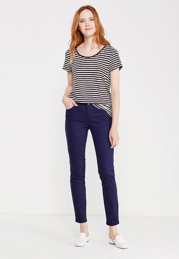 Фото 2 - женские брюки Modis синего цвета