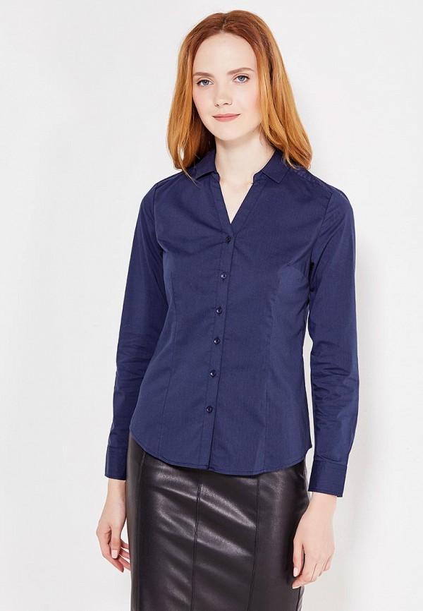женская рубашка с длинным рукавом modis, синяя