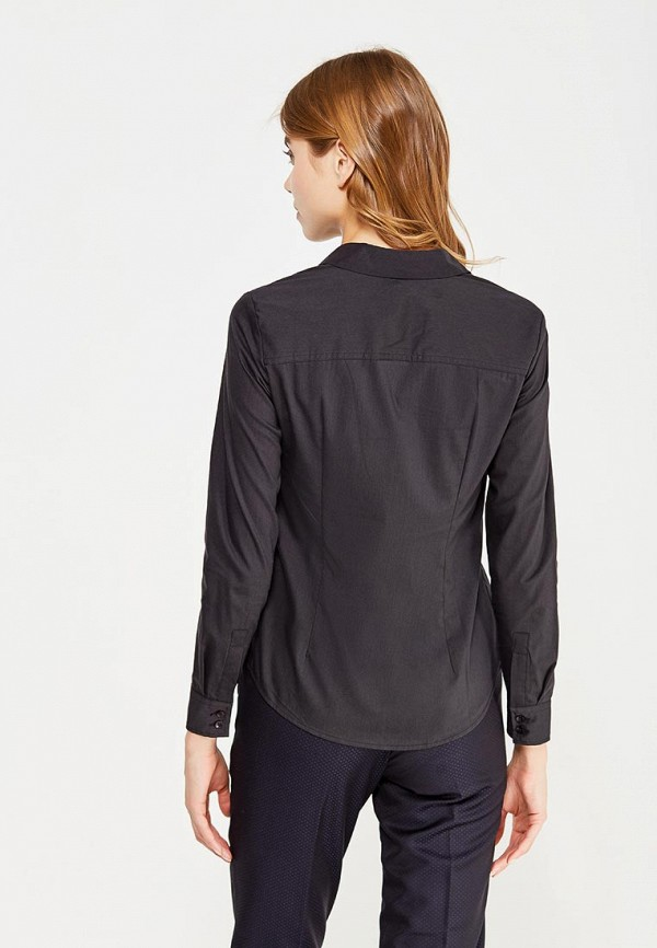 Фото 3 - женскую рубашку Modis черного цвета