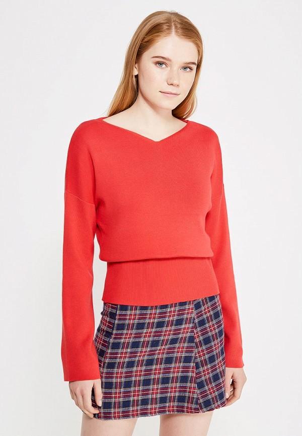 женский пуловер modis, красный