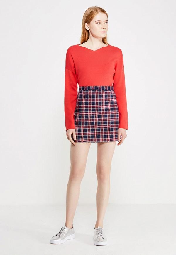 Фото 2 - женский пуловер Modis красного цвета