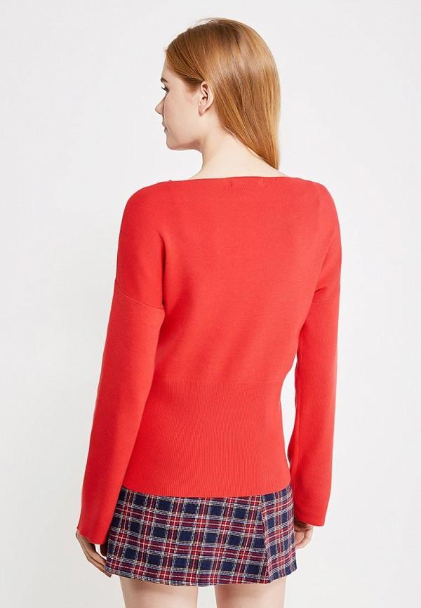 Фото 3 - женский пуловер Modis красного цвета