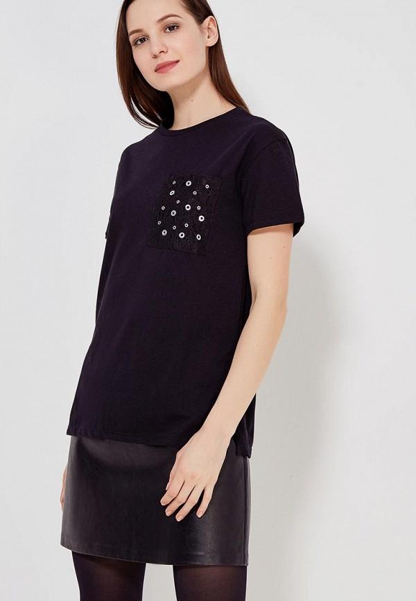 Фото - женскую футболку Modis черного цвета