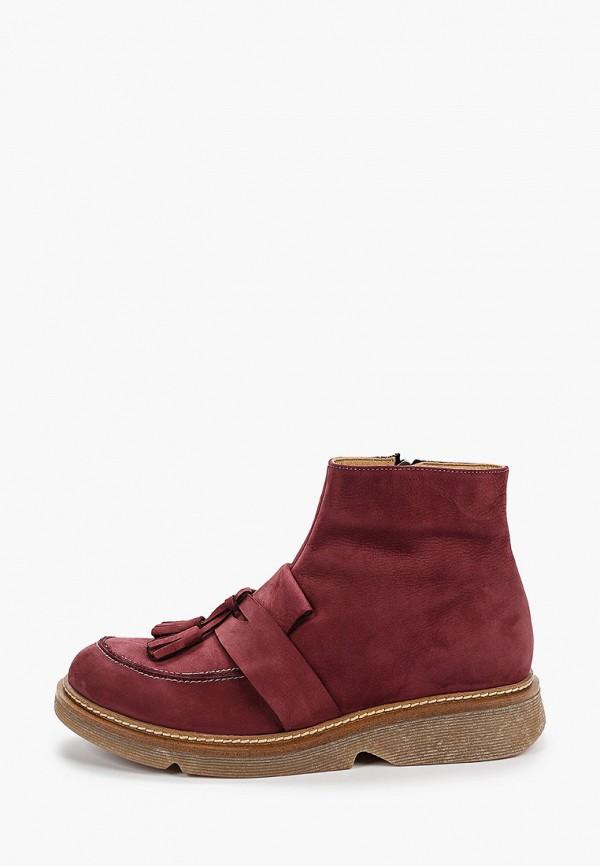 Фото - женские ботинки и полуботинки Modelle бордового цвета