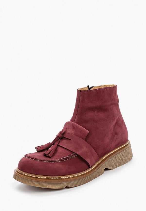Фото 2 - женские ботинки и полуботинки Modelle бордового цвета