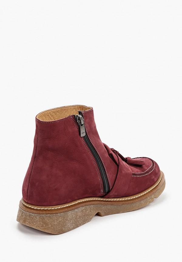 Фото 3 - женские ботинки и полуботинки Modelle бордового цвета