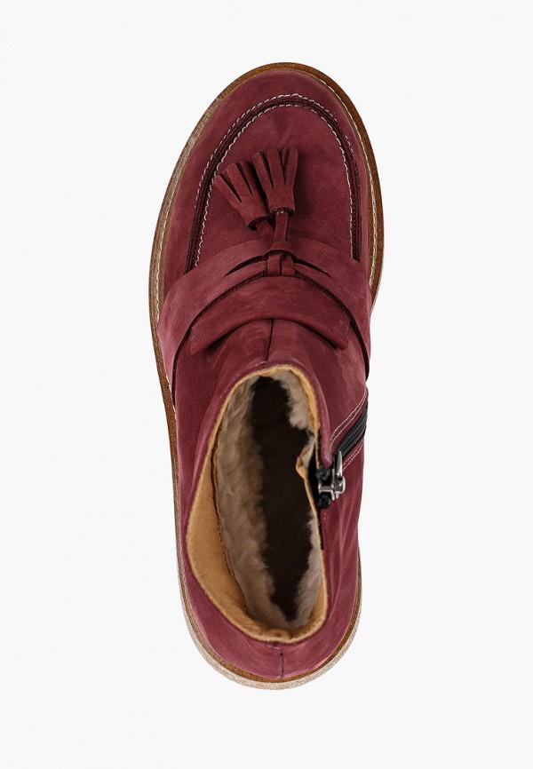 Фото 4 - женские ботинки и полуботинки Modelle бордового цвета