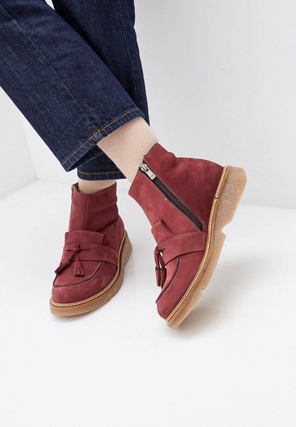 Фото 6 - женские ботинки и полуботинки Modelle бордового цвета