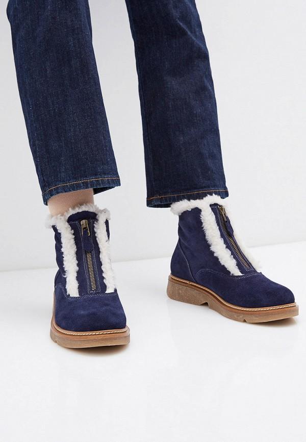 Фото 6 - женские ботинки и полуботинки Modelle синего цвета