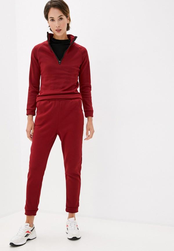 женский спортивный костюм modelle, бордовый