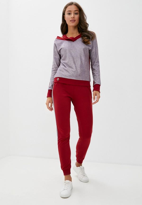 женский костюм modelle, бордовый