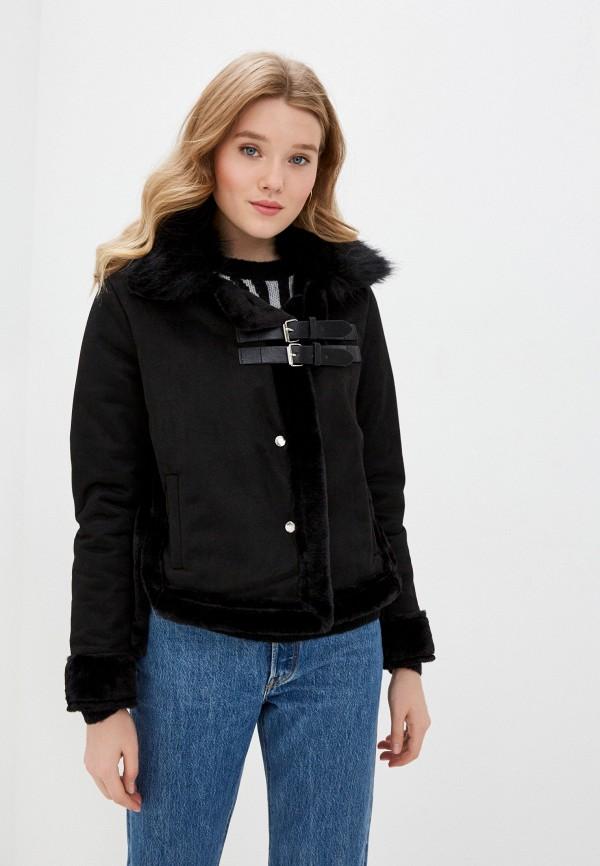женская дубленка modelle, черная