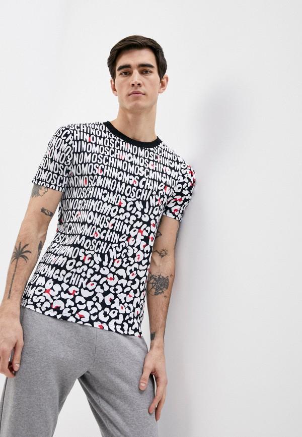 мужская футболка moschino underwear, разноцветная