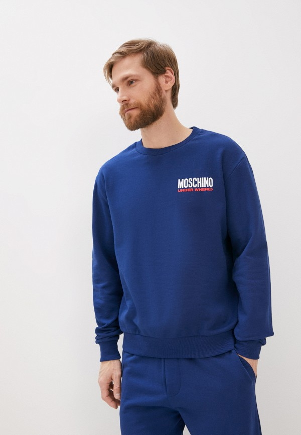 мужской свитшот moschino underwear, синий