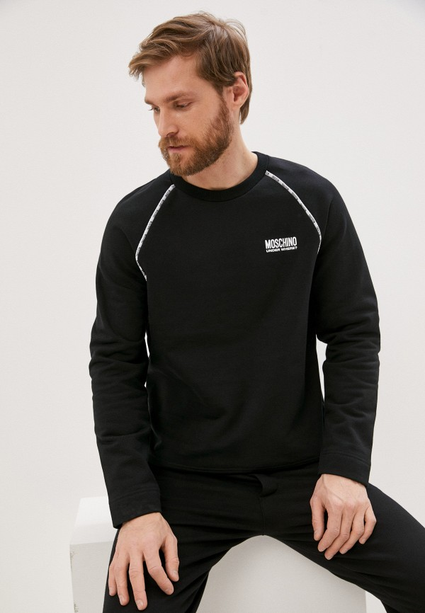 мужской свитшот moschino underwear, черный