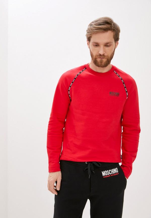 мужской свитшот moschino underwear, красный