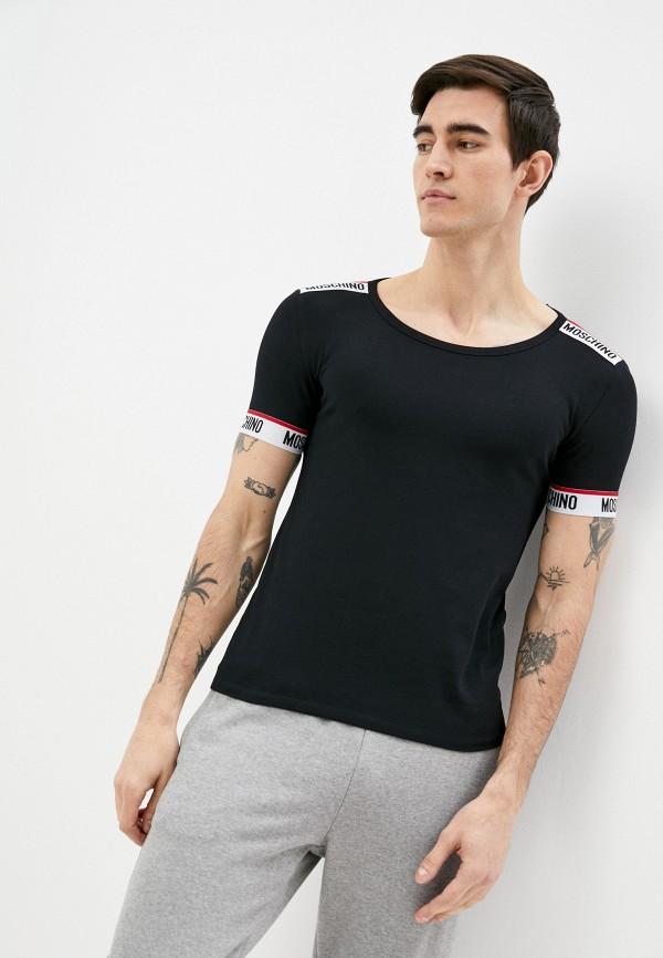мужская футболка moschino underwear, черная