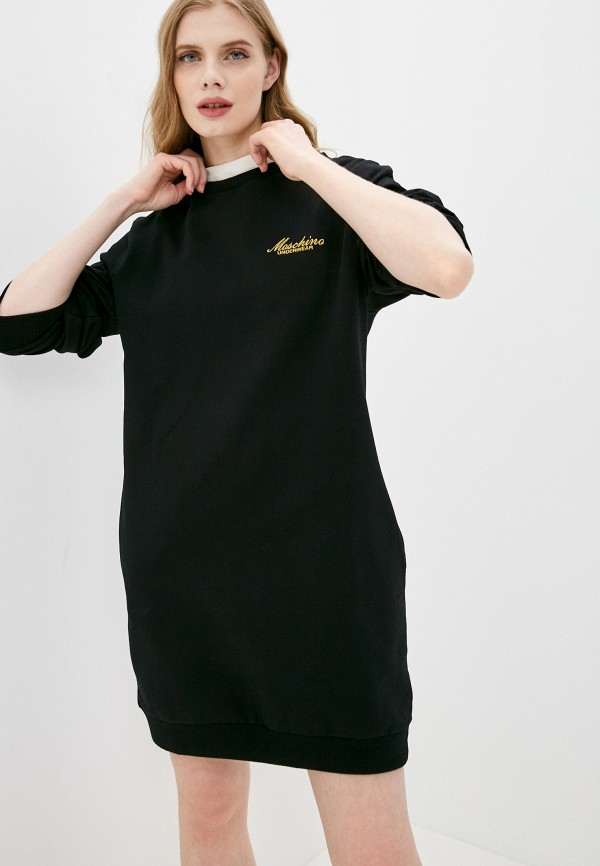 женское платье moschino underwear, черное