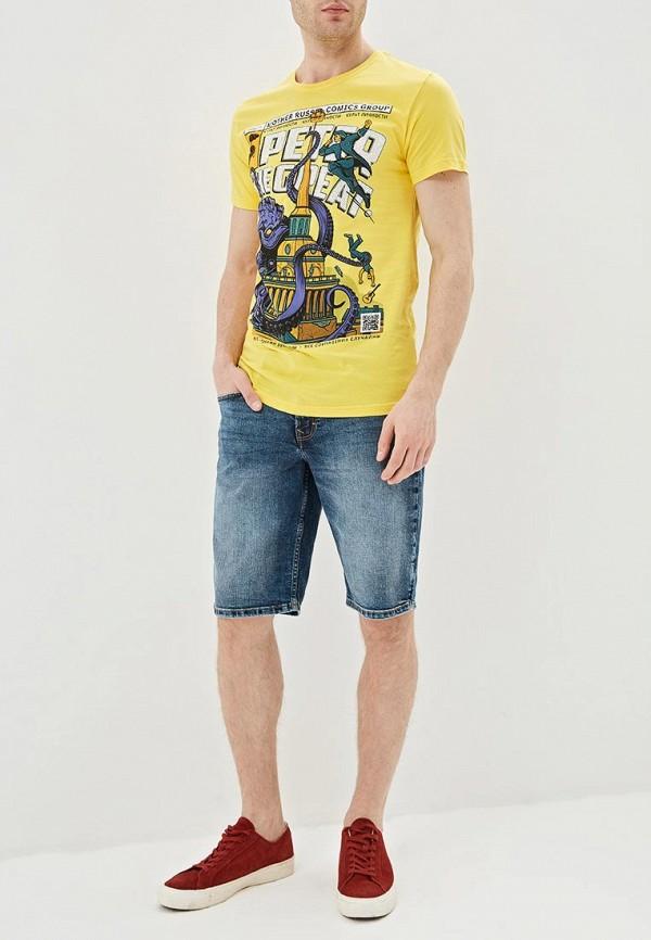 Фото 2 - мужскую футболку Mother Russia желтого цвета