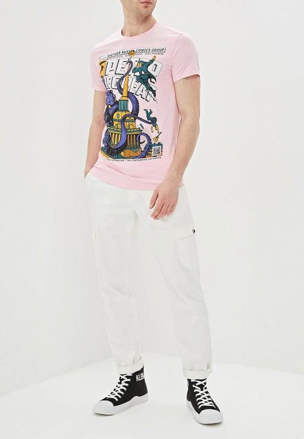 Фото 2 - мужскую футболку Mother Russia розового цвета