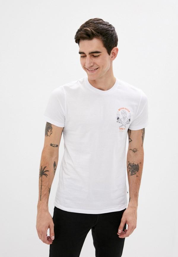 мужская футболка с коротким рукавом mother russia, белая