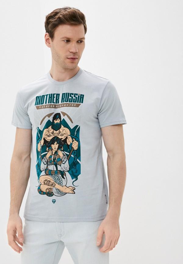 мужская футболка с коротким рукавом mother russia, голубая