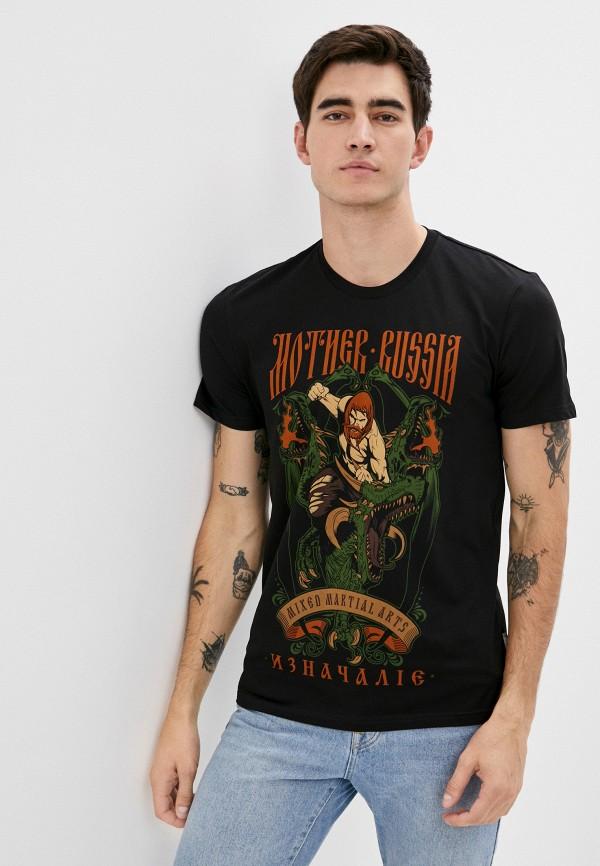 мужская футболка mother russia, черная