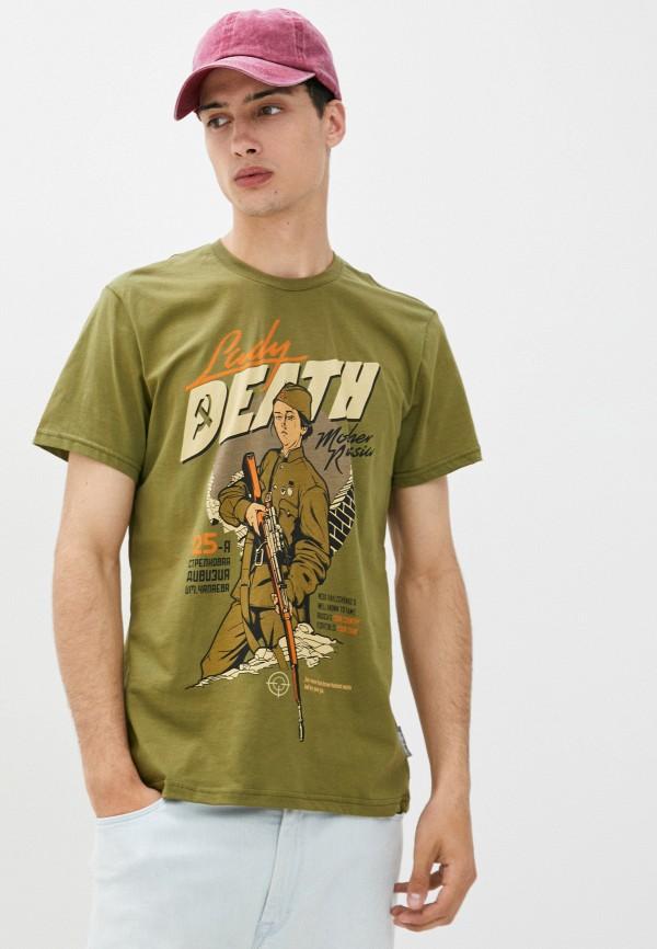 мужская футболка с коротким рукавом mother russia, хаки