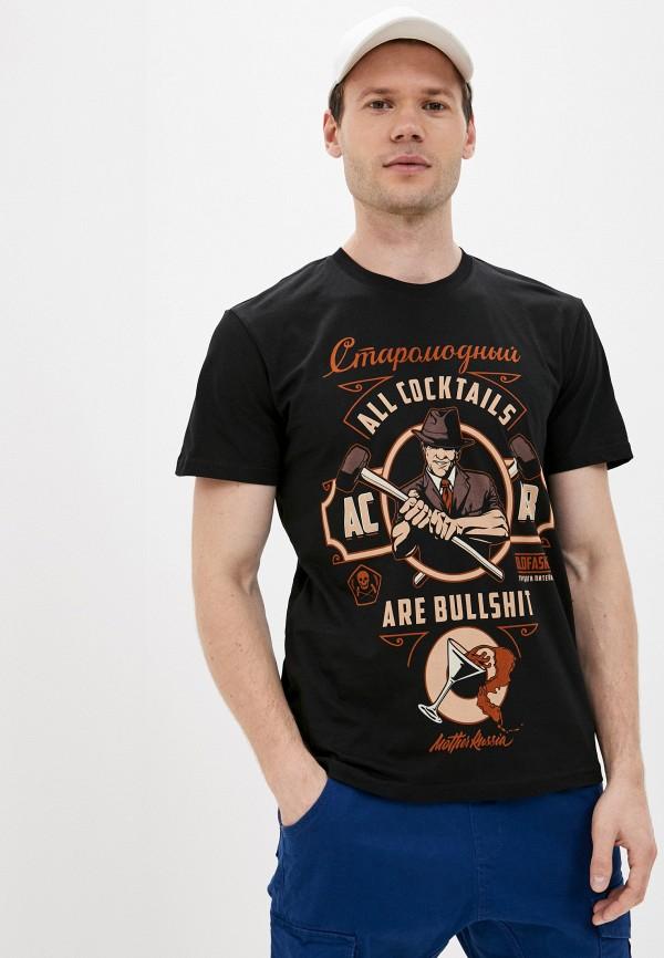 мужская футболка с коротким рукавом mother russia, черная