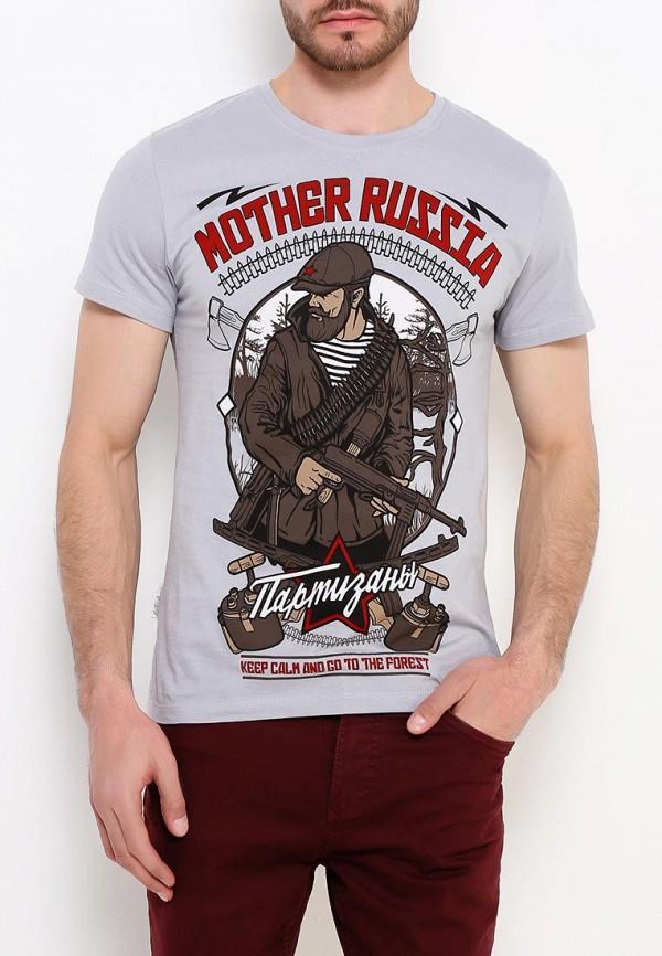 мужская спортивные футболка mother russia, серая