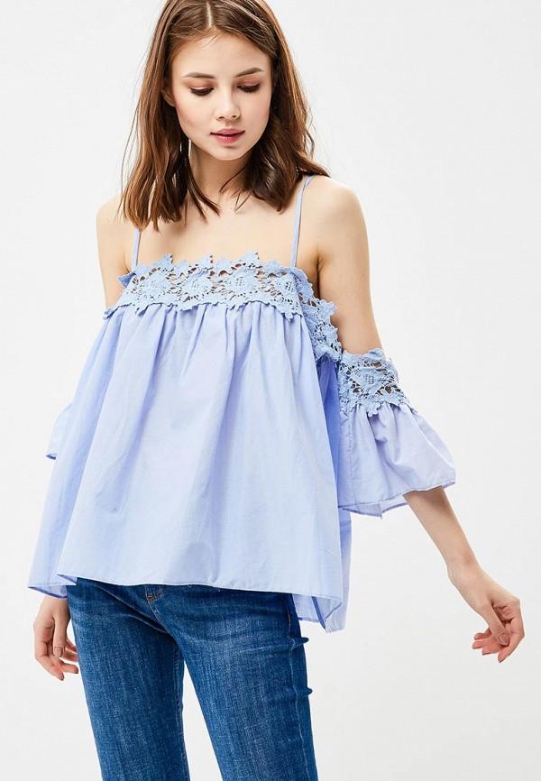 женская блузка moni&co, голубая