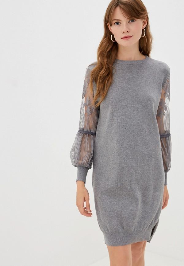 женское платье moki, серое
