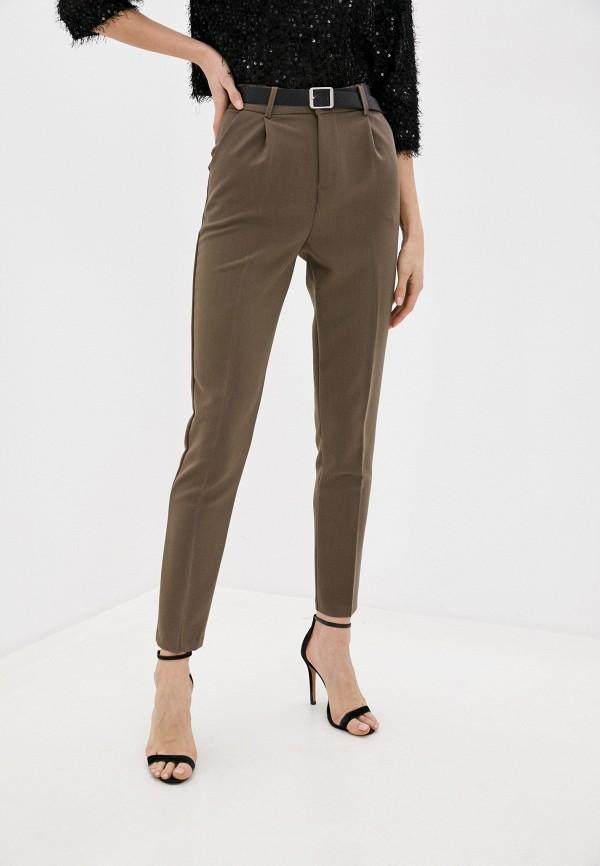 женские классические брюки moki, коричневые
