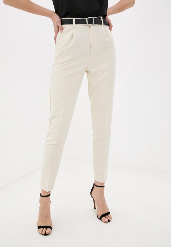 женские классические брюки moki, бежевые