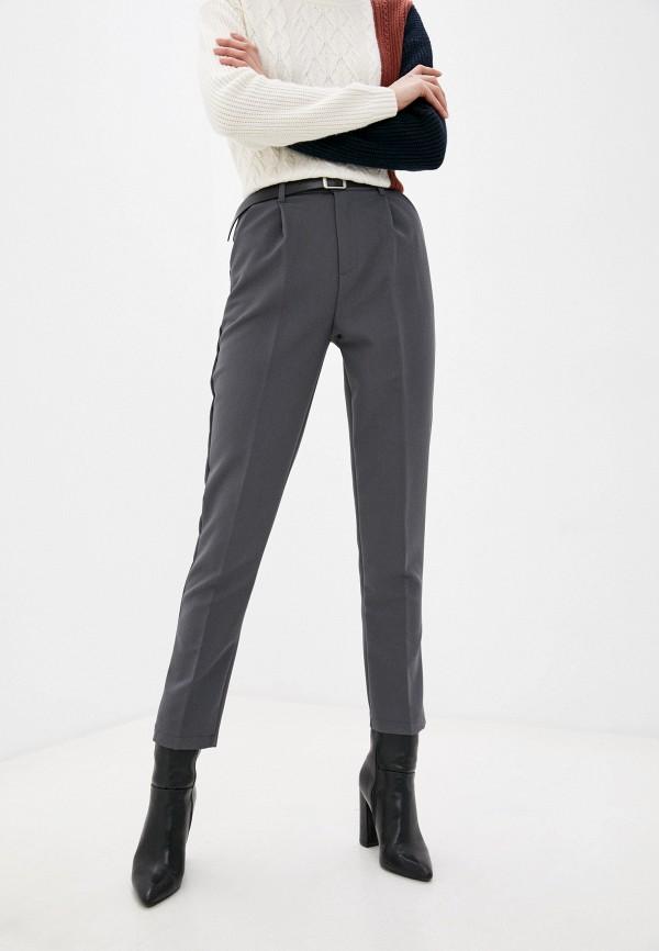женские классические брюки moki, серые