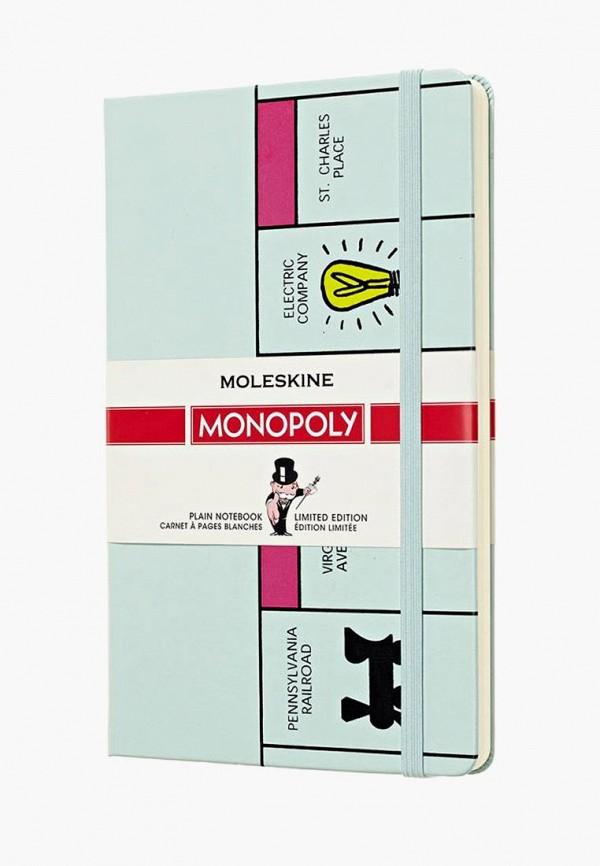 Купить Блокнот Moleskine, LIMITED EDITION MONOPOLY, mo071ducchn5, бирюзовый, Осень-зима 2018/2019