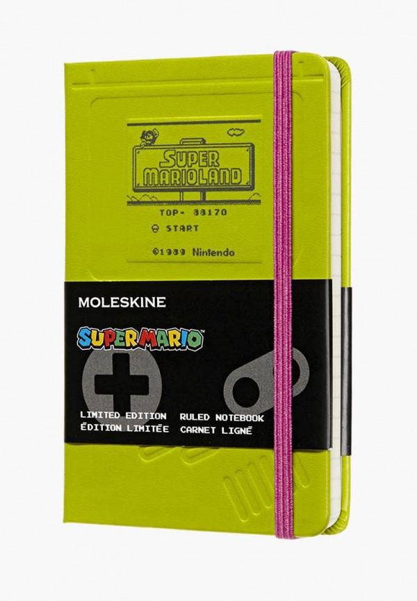 Купить Блокнот Moleskine, Limited Edition Super Mario, mo071dudold1, зеленый, Весна-лето 2019